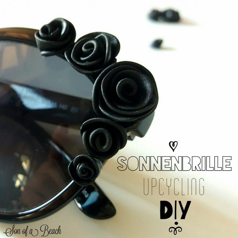 Sonnenbrille verschönern mit Fimo Rosen DIY