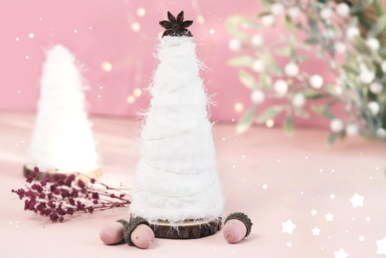 flauschiger weihnachtsbaum diy weihnachten