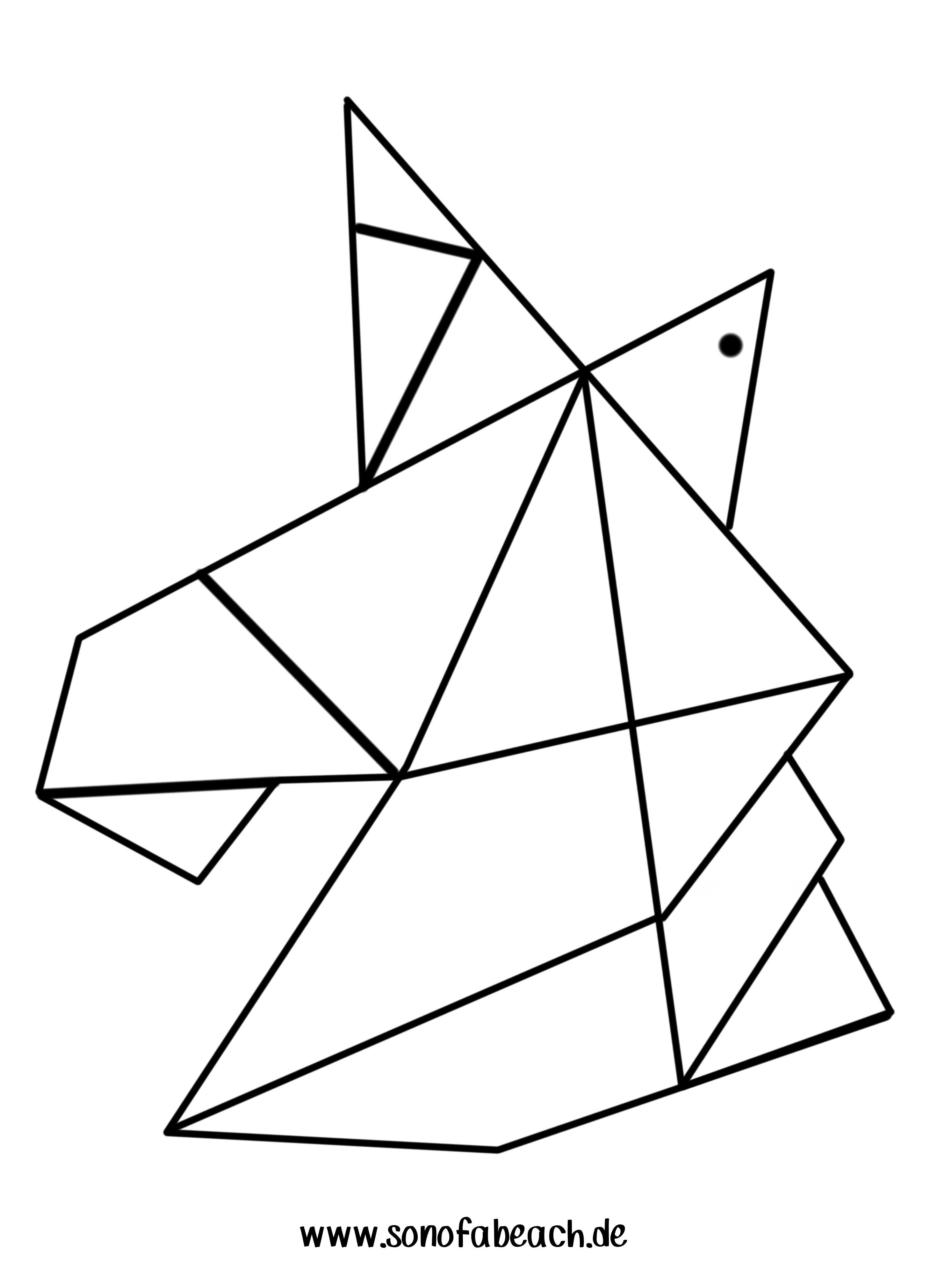 origami einhorn vorlage sonofabeach. Black Bedroom Furniture Sets. Home Design Ideas