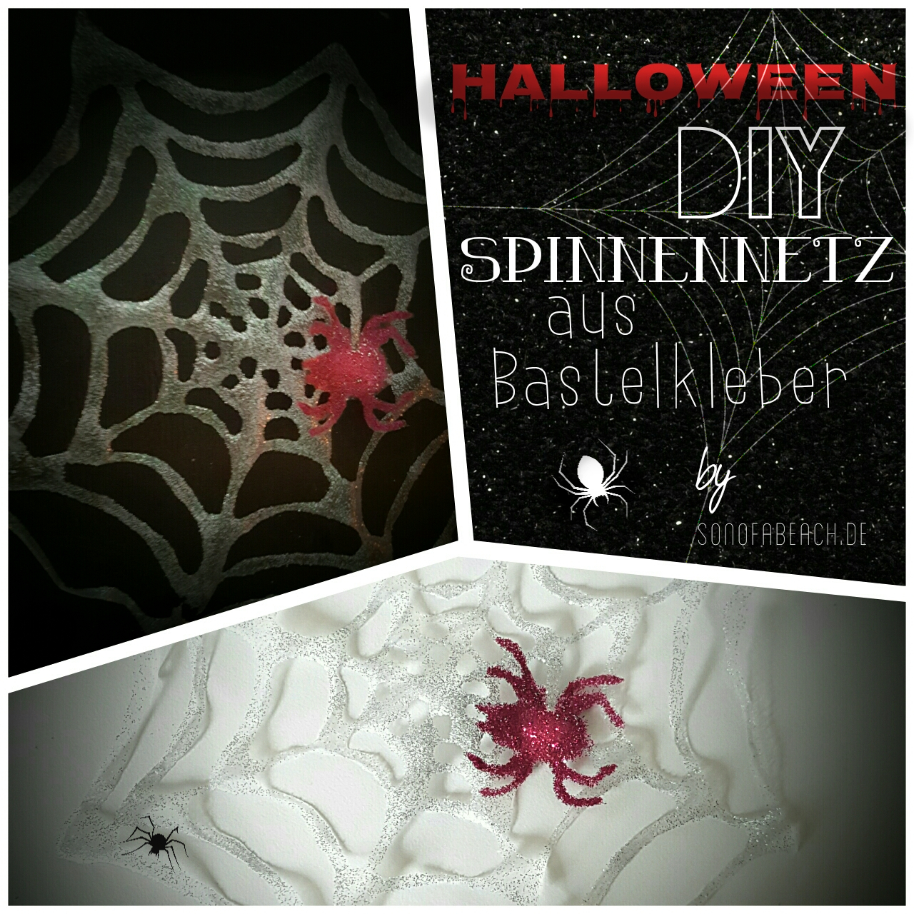 spinnennetz halloween diy